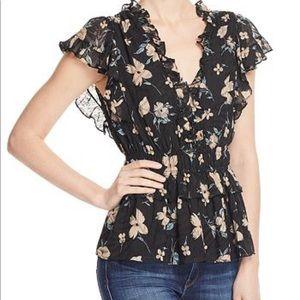 Rebecca Taylor Daniella floral top medium